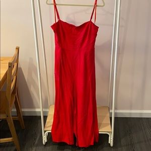 Princess polly red tie back jumpsuit